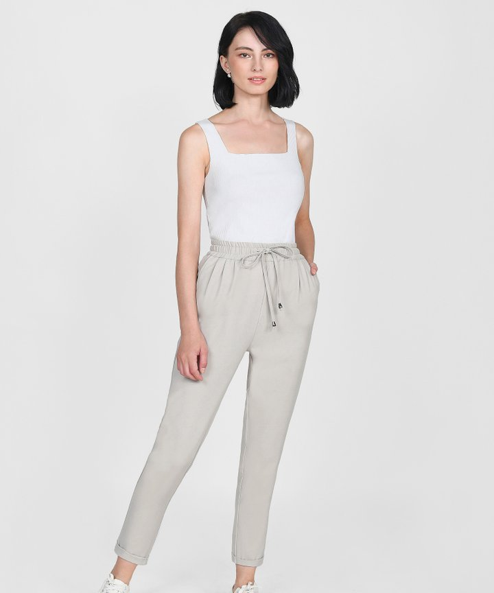 Ford Relaxed Trousers - Pebble Grey
