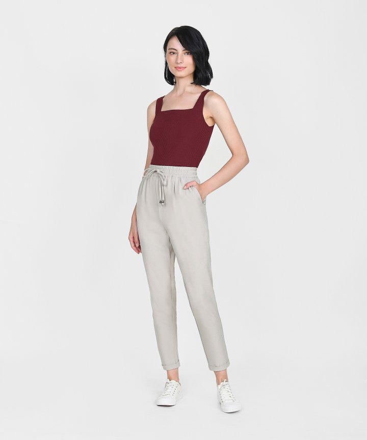 Linnea Knit Tank - Wine