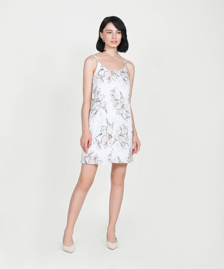 Ipanema Floral Slip Dress - White