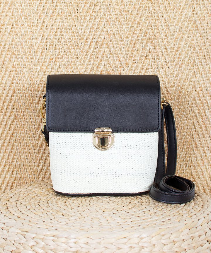 Copenhagen Colourblock Bag - Black