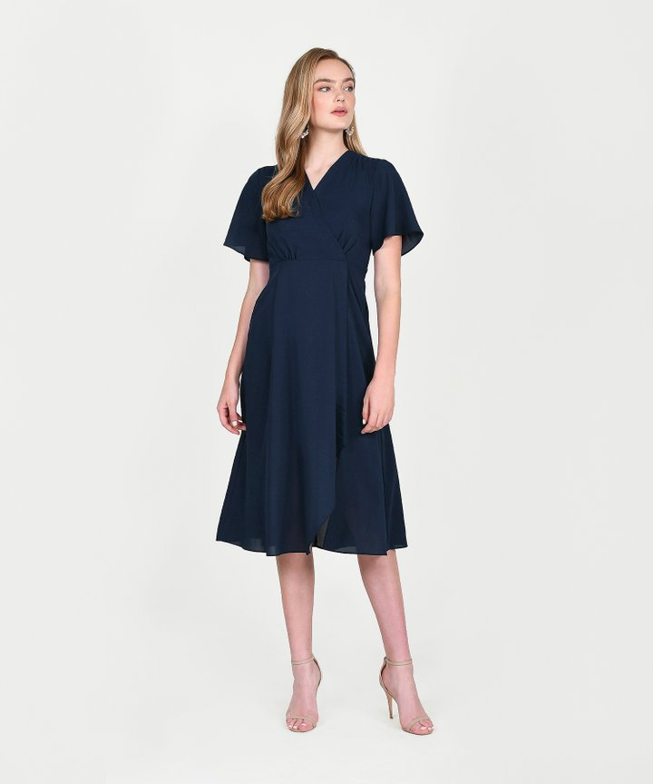Laurent Overlay Midi - Midnight Blue