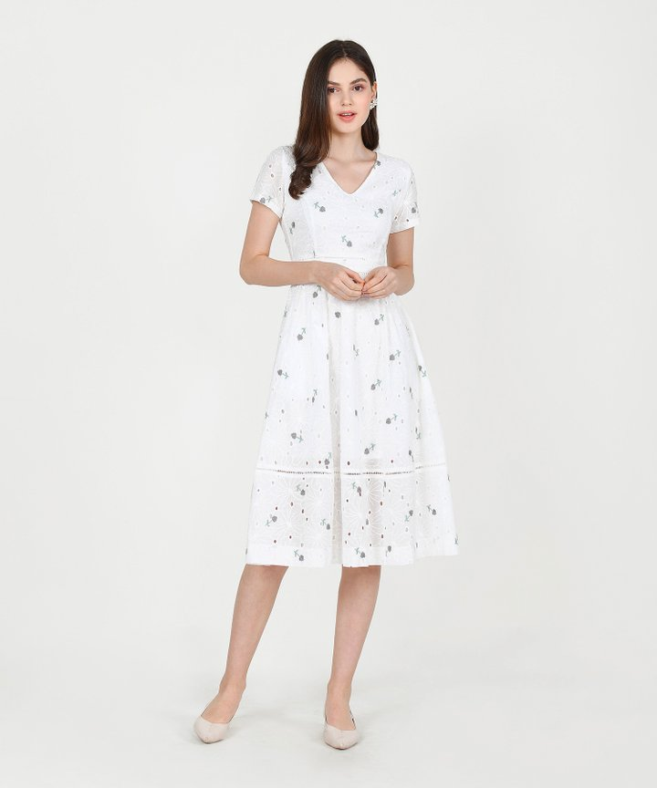 HVV Atelier Ysabel Embroidered Midi (Restock)