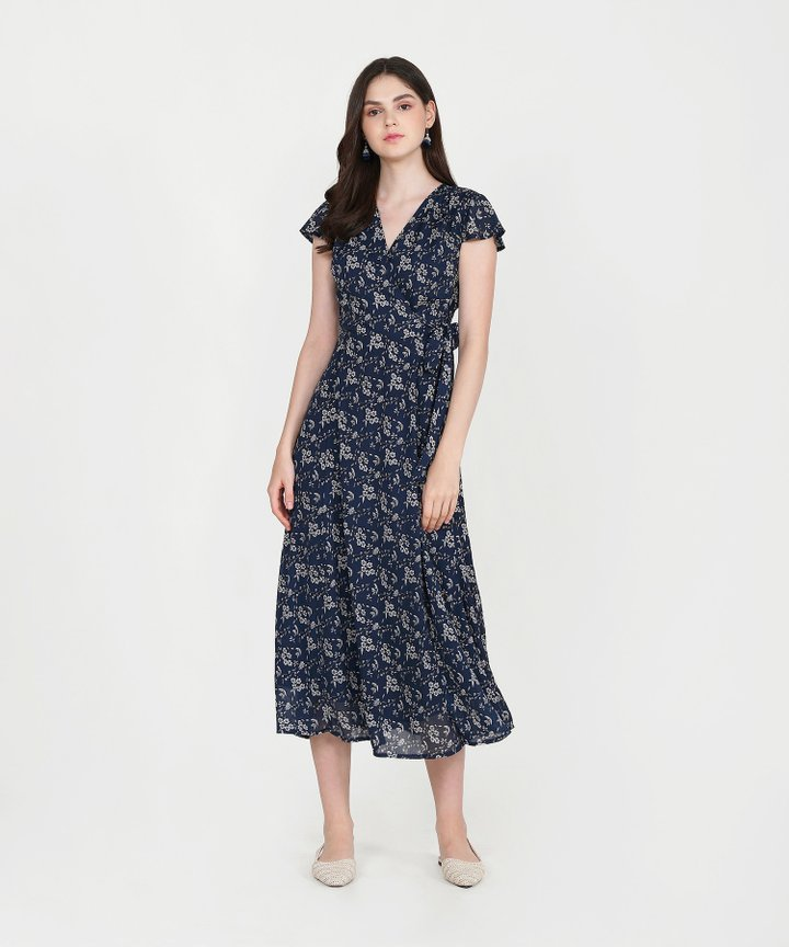 Mural Floral Maxi - Midnight Blue