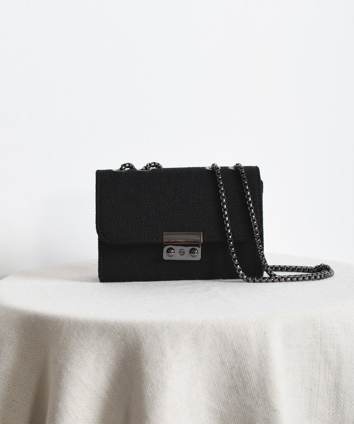 Canopy Striped Bag - Black