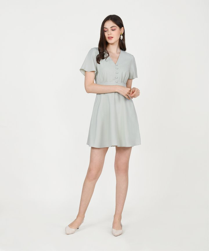 Odessa Dress - Pale Sage (Backorder)