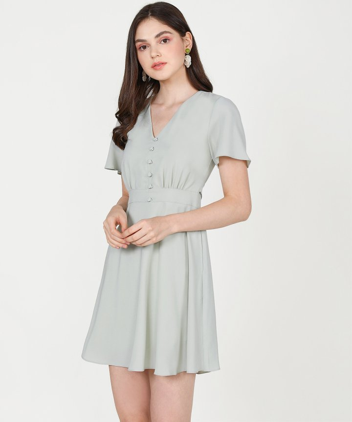 Odessa Dress - Pale Sage (Restock)