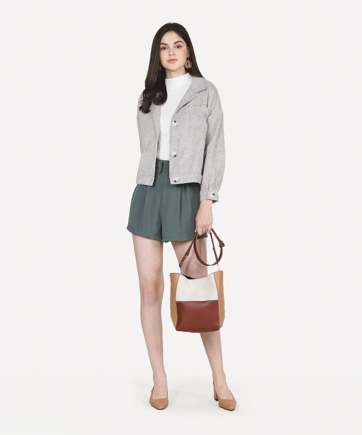 Soludos Colourblock Bag - Light Brown