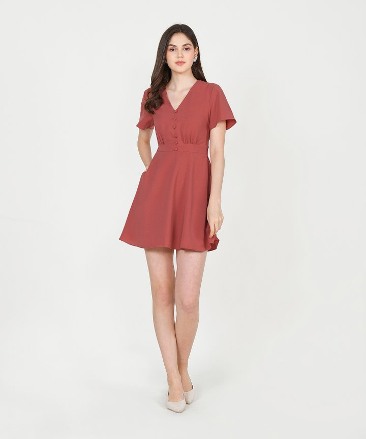 Odessa Dress - Rust (Backorder)