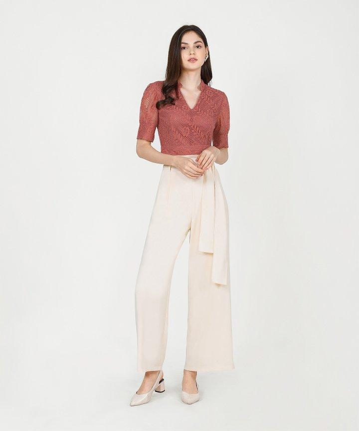 Temperley Wide-Leg Trousers - Cream