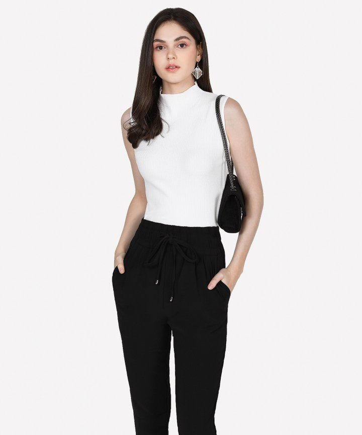 Verona Basic Knit Top - White