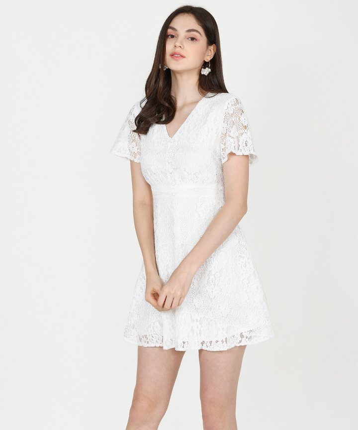Odessa Lace Dress - White (Restock)