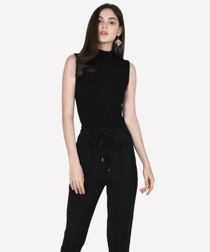 Verona Basic Knit Top - Black