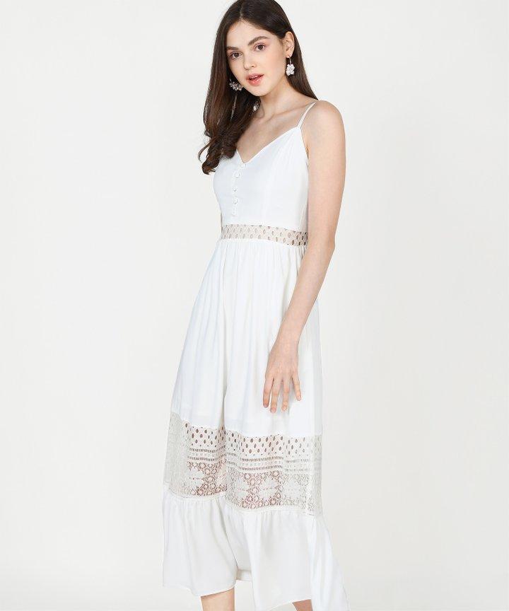 Imogen Crochet Maxi - White