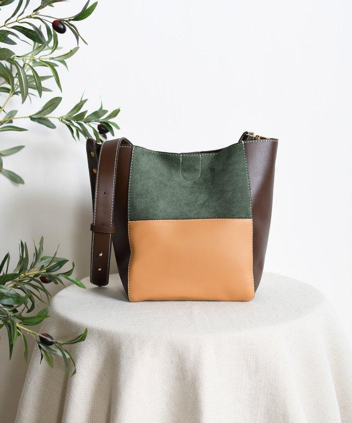 Soludos Colourblock Bag - Dark Brown