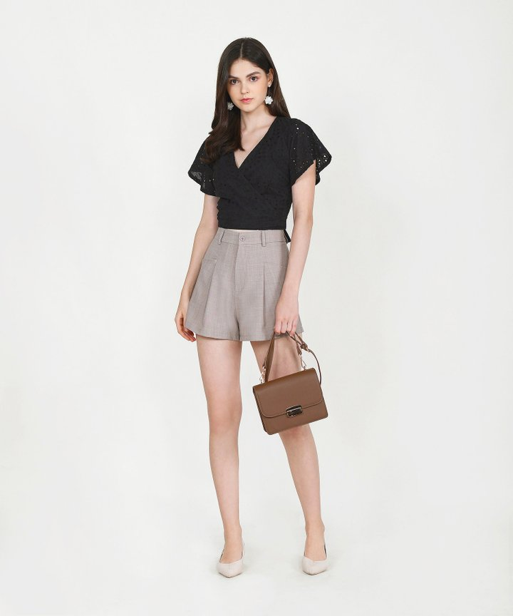 Axel Belted Shorts - Pale Taupe (Backorder)
