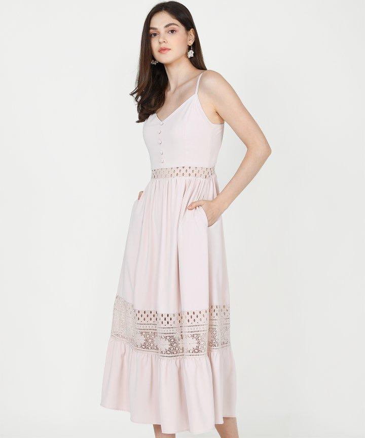 Imogen Crochet Maxi - Pale Pink