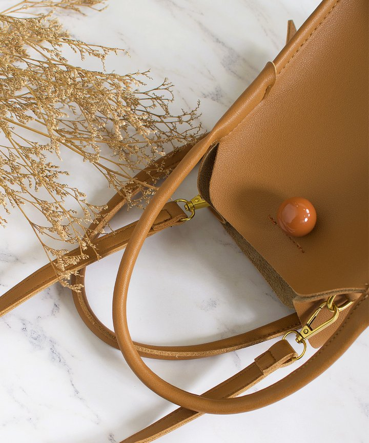 Maxime Dome Bag - Brown