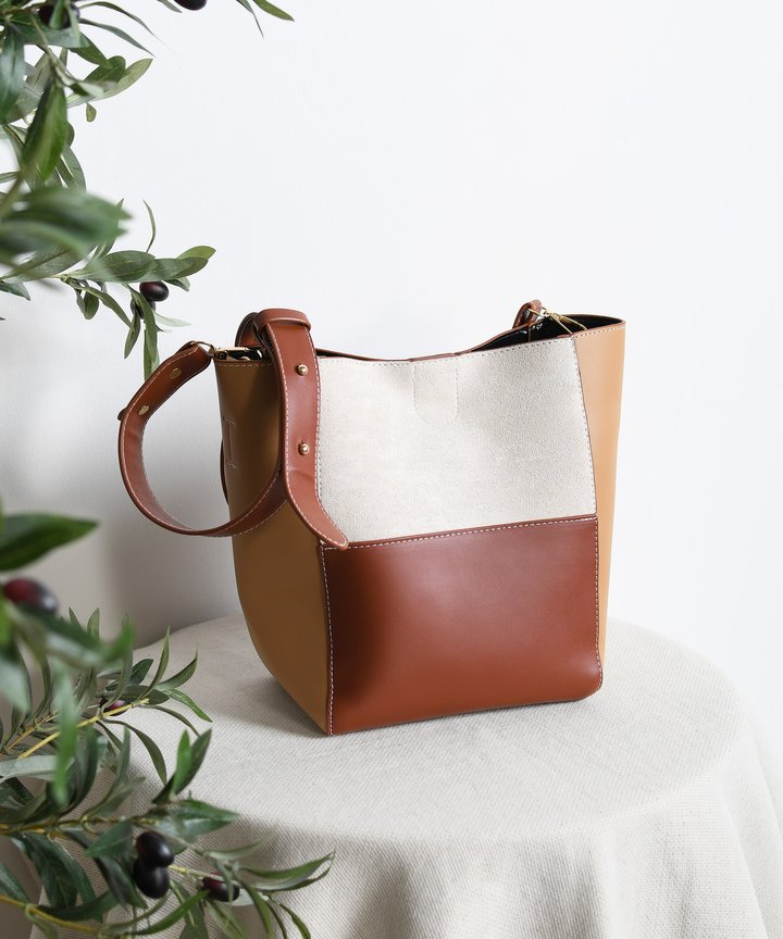 Soludos Colourblock Bag - Light Brown