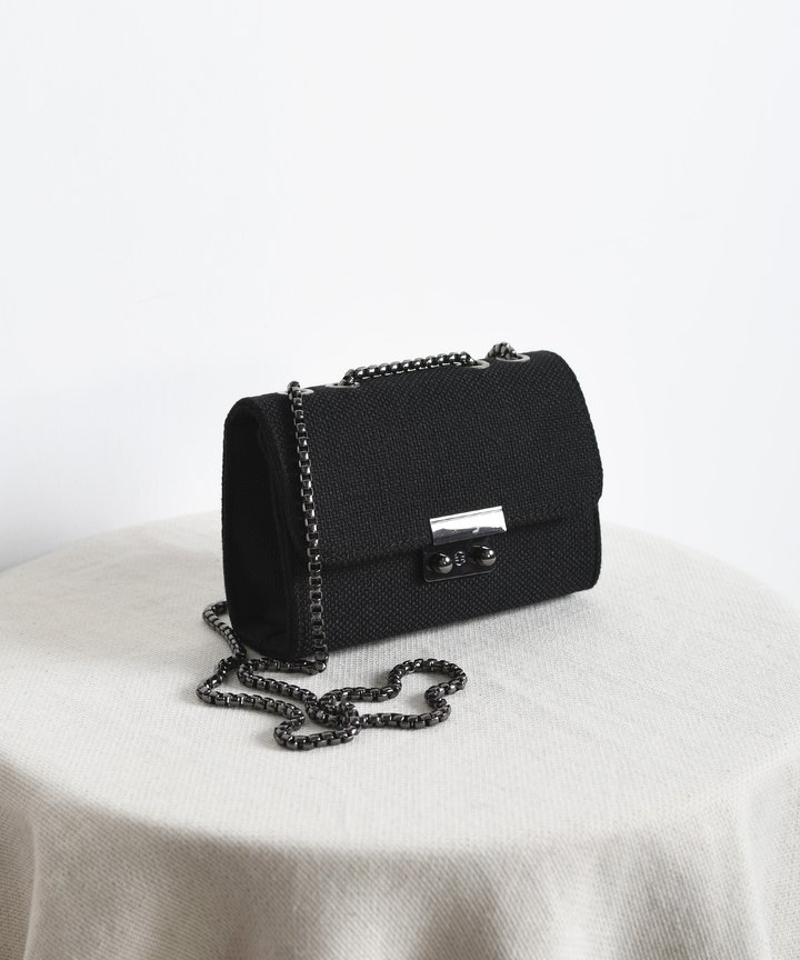 Canopy Striped Bag - Black