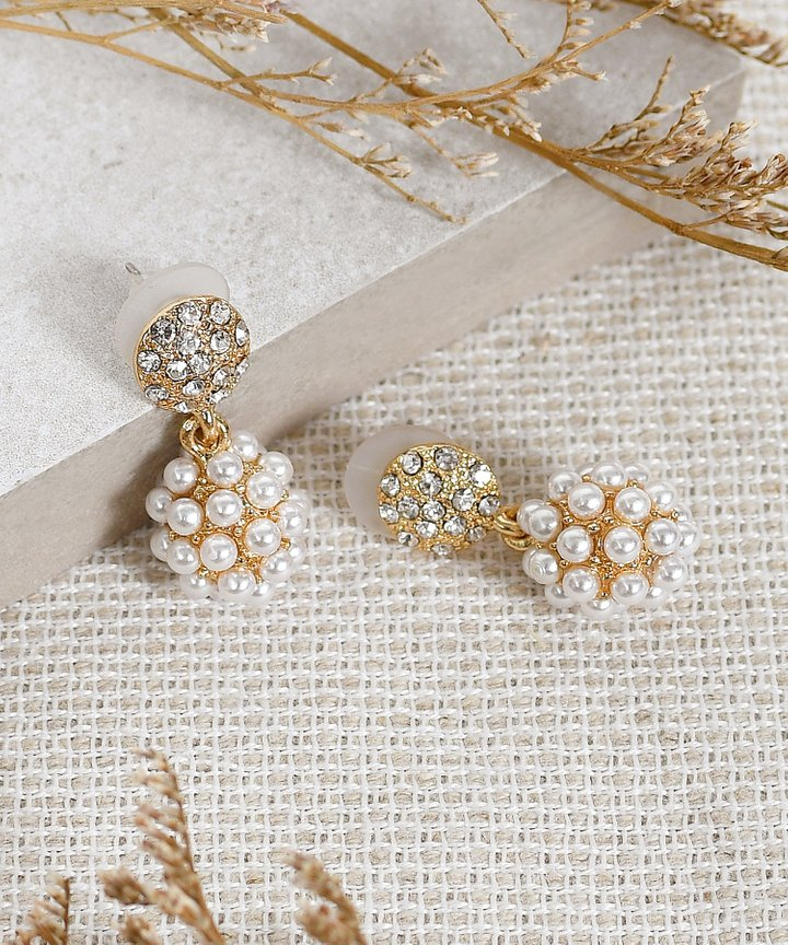 Hearst Pearl Cluster Earrings