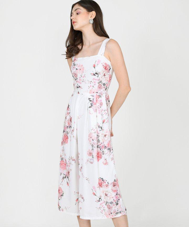 Mallorca Floral Jumpsuit - White