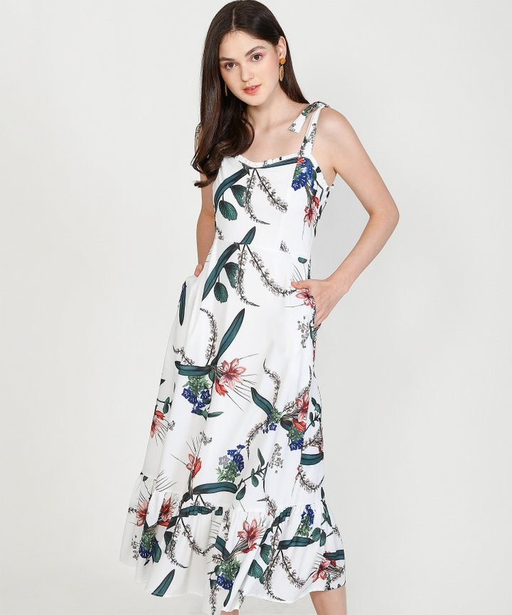 Reveries Floral Maxi - White