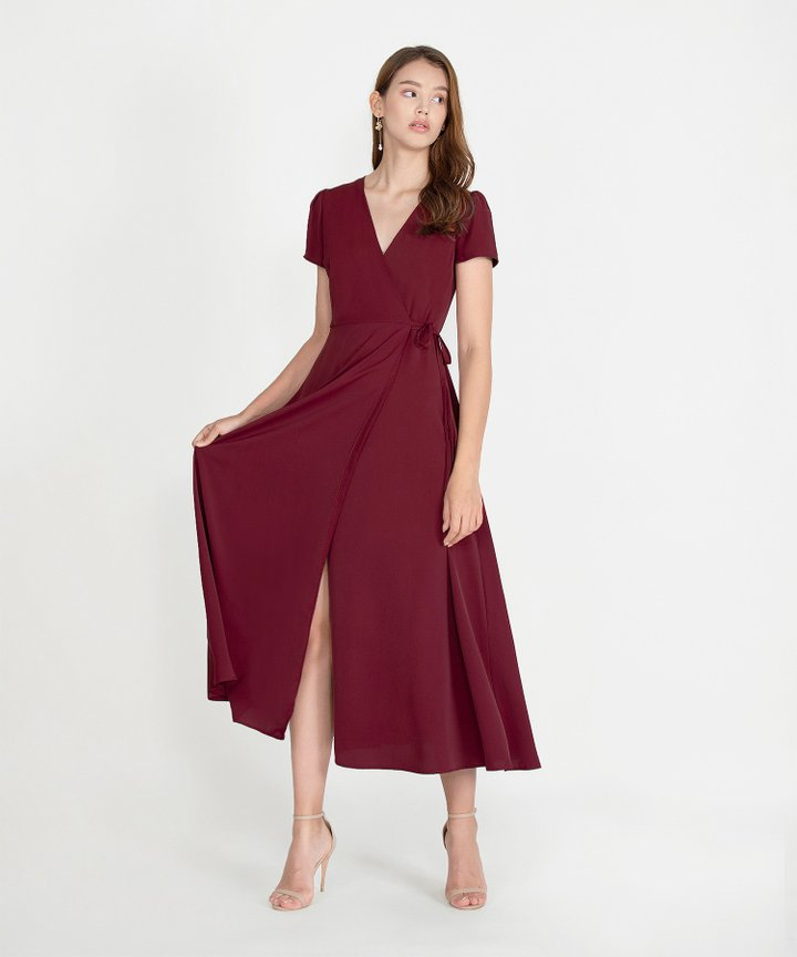Pinot Overlay Maxi Dress - Wine