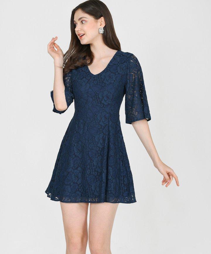 Carlisle Lace Dress - Midnight Blue