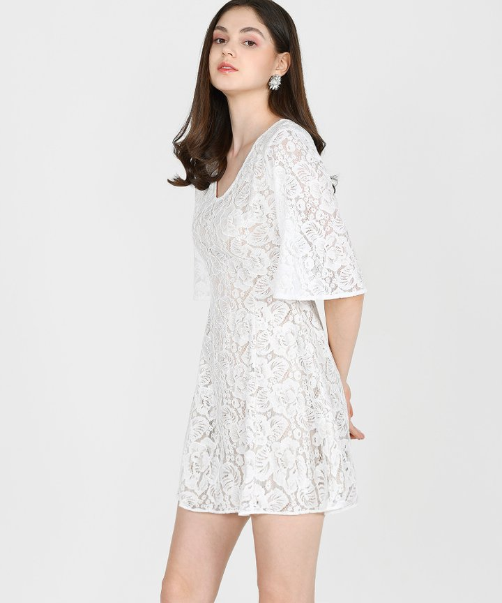 Carlisle Lace Dress - White