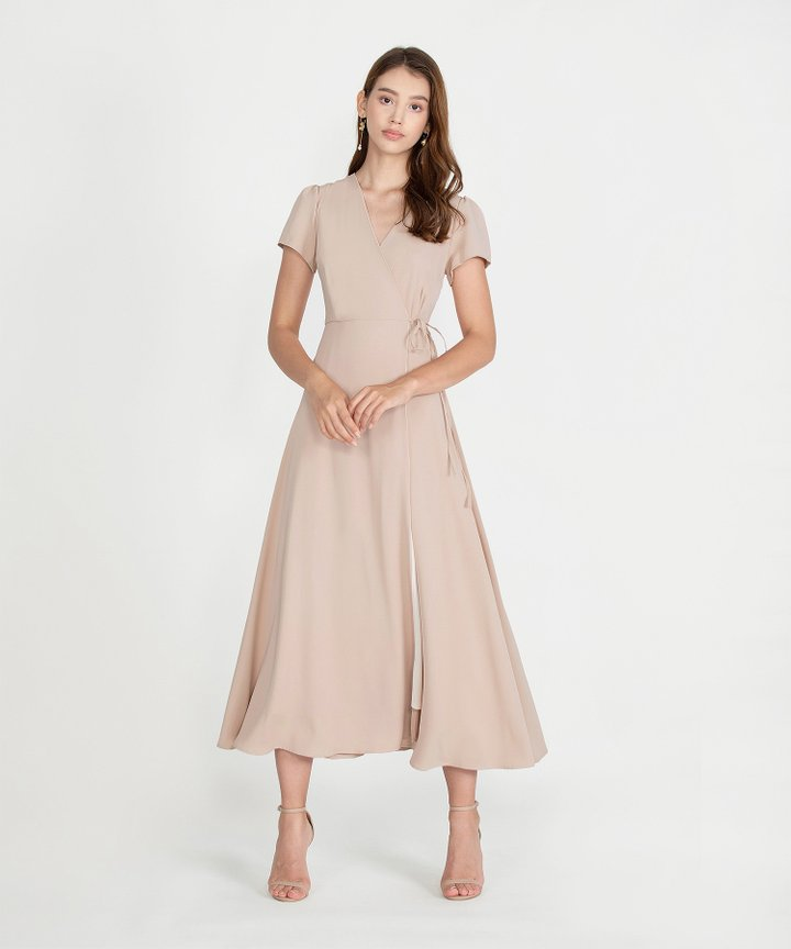 Pinot Overlay Maxi Dress - Nude