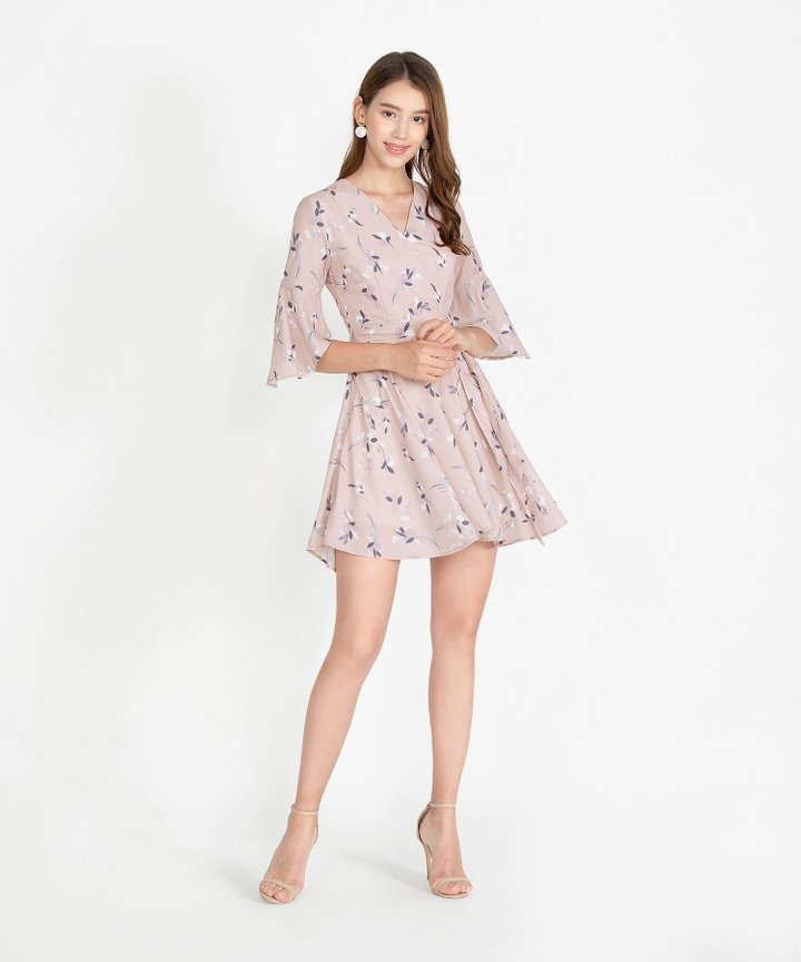 Mellow Floral Kimono Dress - Blush Pink (Restock)