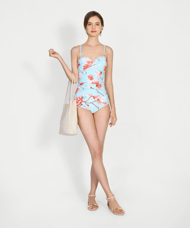 Martinique Floral Ruched Swimsuit