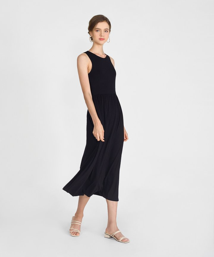 Winnie Cotton Maxi - Black