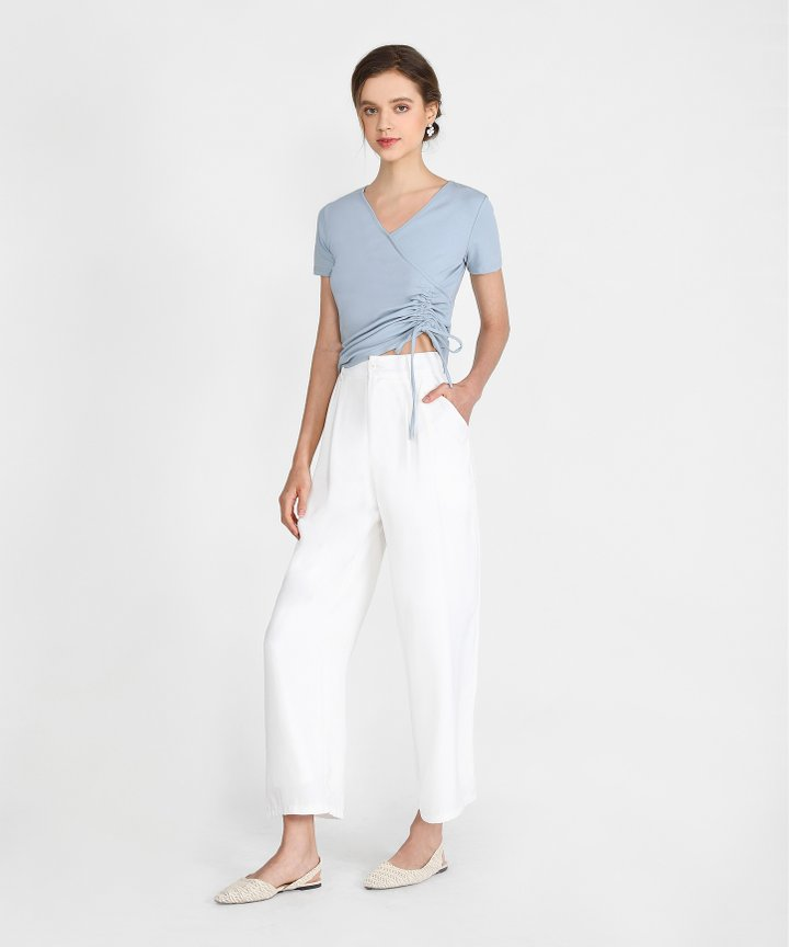 Adelaide Wide Leg Pants - White