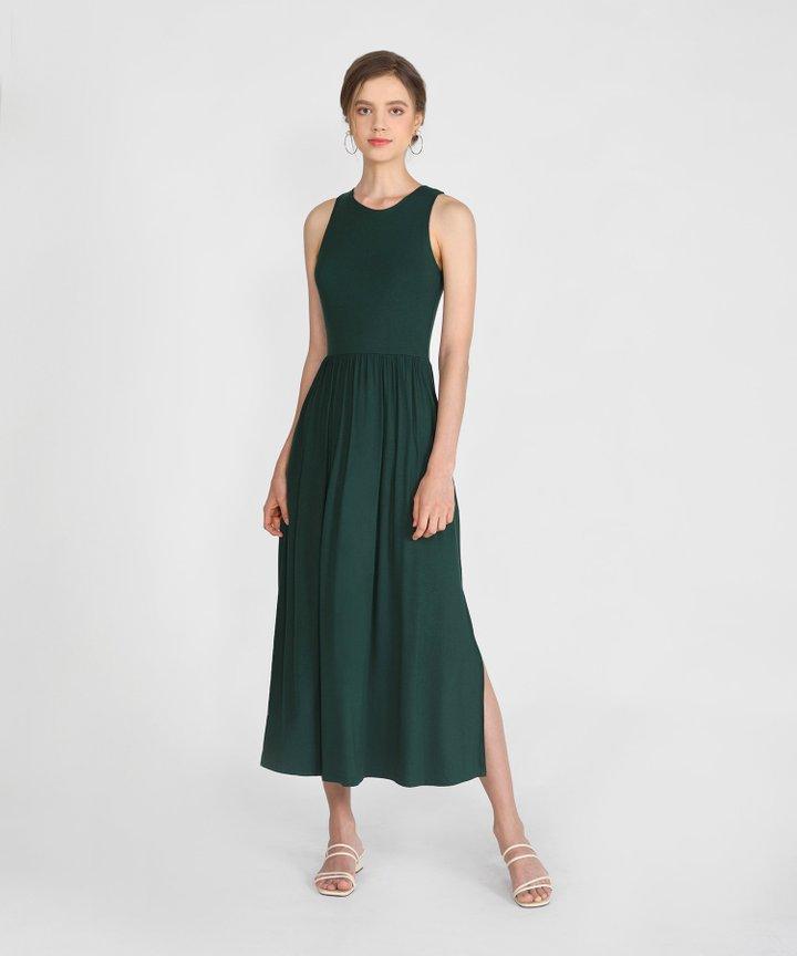 Winnie Cotton Maxi - Forest Green