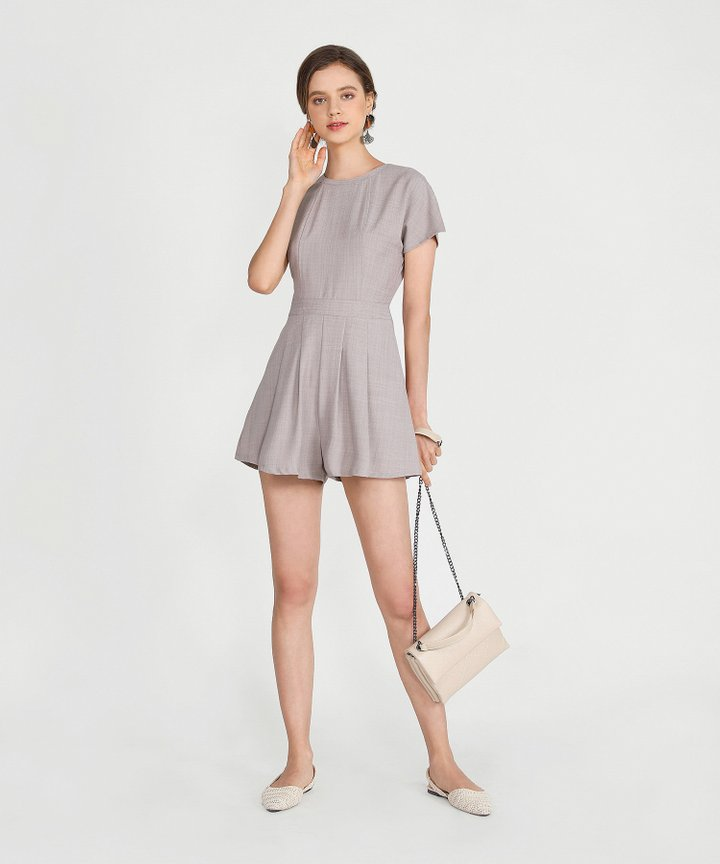 Axel Playsuit - Taupe Grey