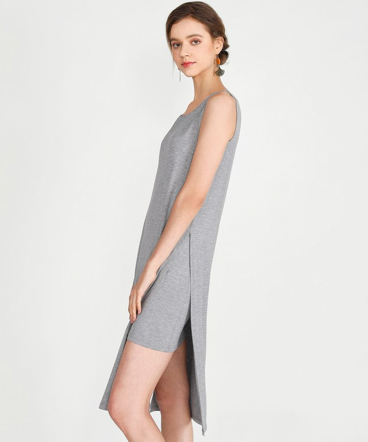 Midas Midi Dress - Heather Grey