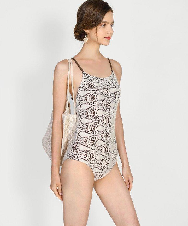 Tularosa Crochet Overlay Swimsuit