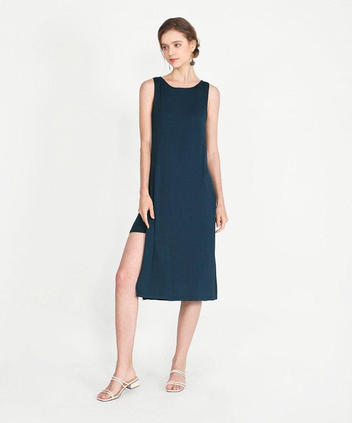 Midas Midi Dress - Navy