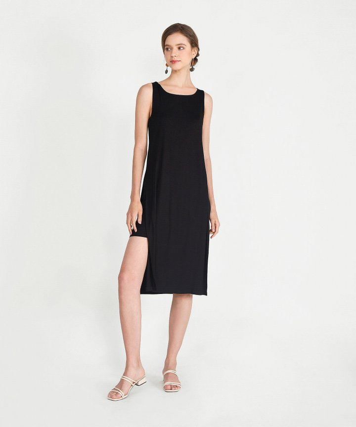 Midas Midi Dress - Black