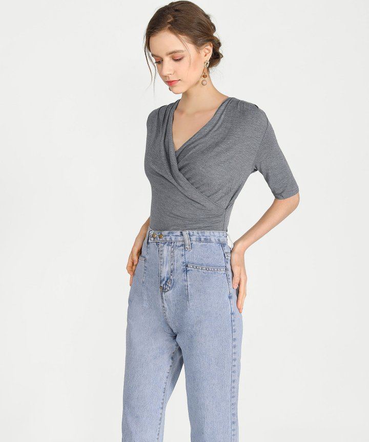 Simian Overlay Top - Grey