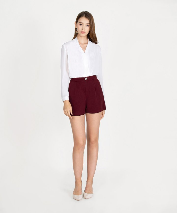 Joie Classic Shorts - Maroon