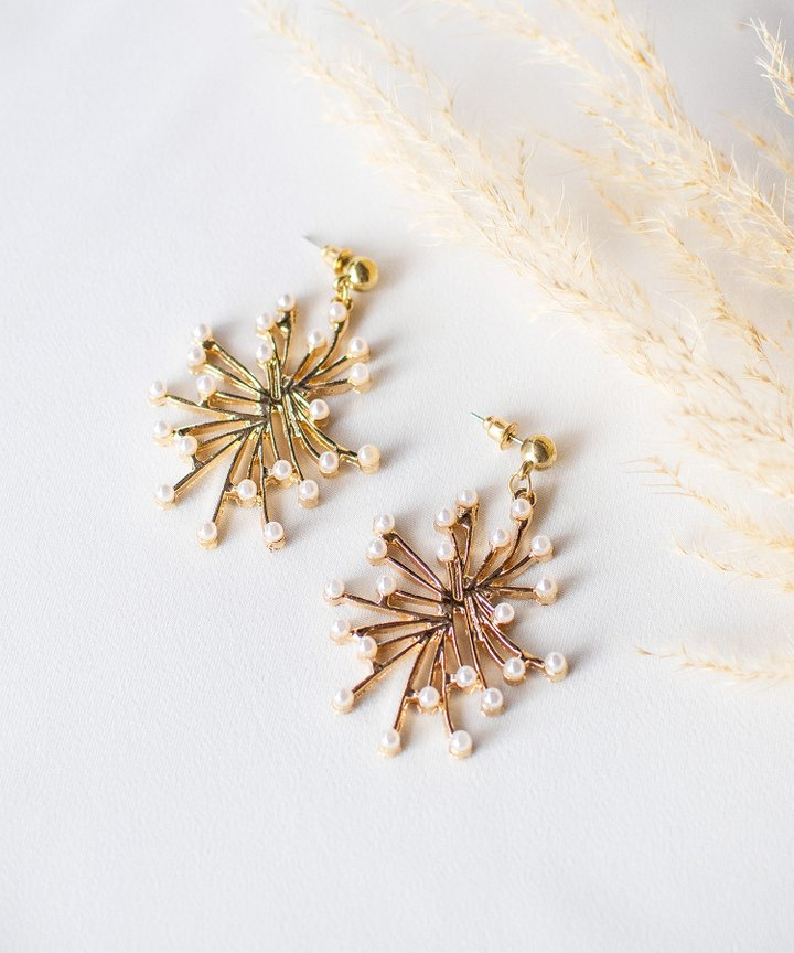 Caprice Pearl Burst Earrings