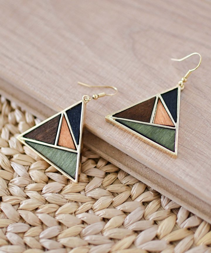Picasso Colourblock Triangle Earrings