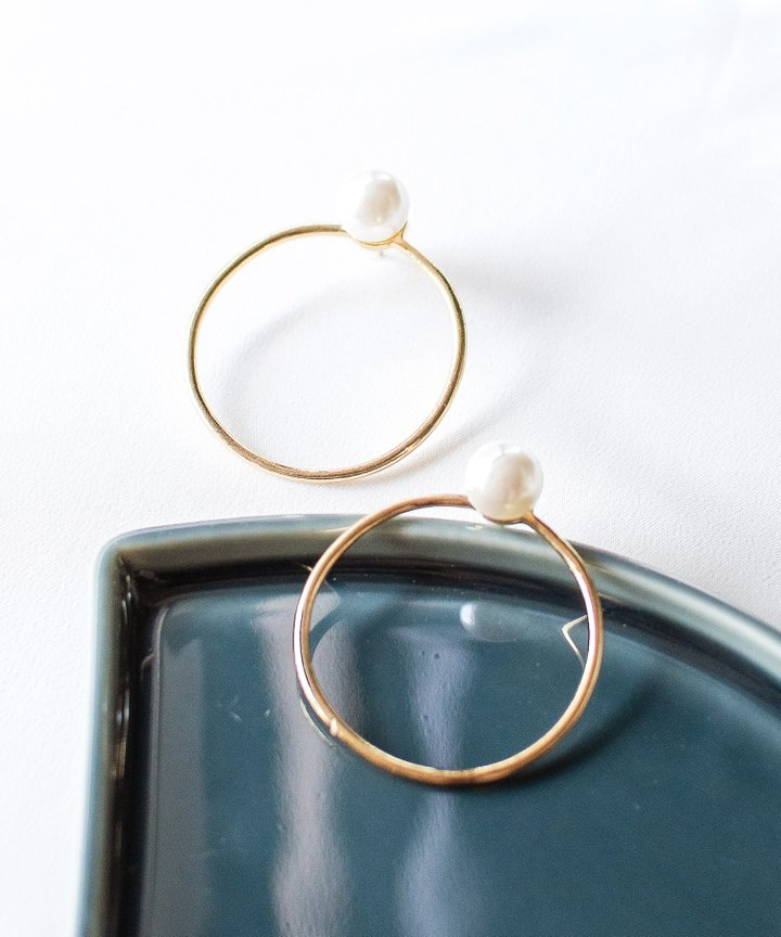 Chai Pearl Hoop Earrings