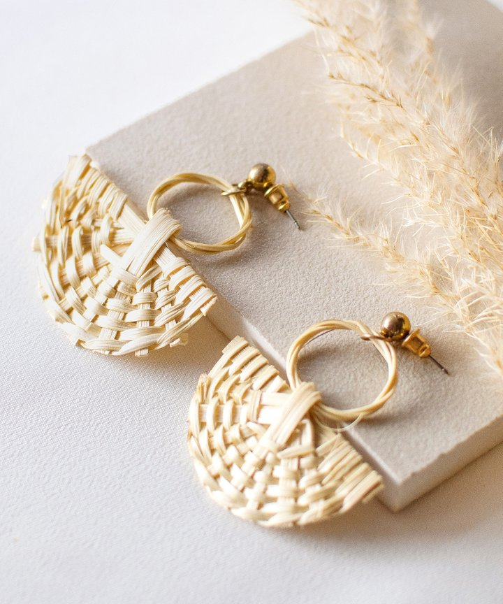 Cancun Woven Earrings