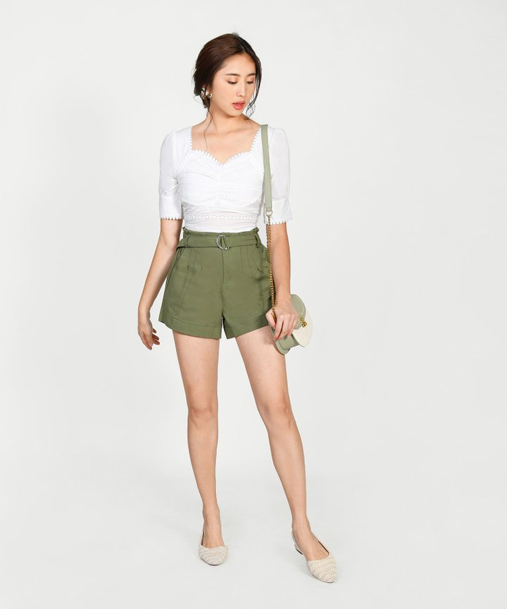 Amherst Belted Shorts - Army Green