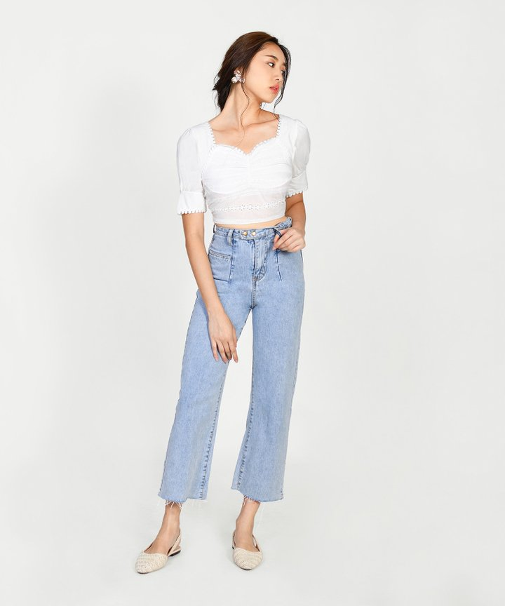Picardy Eyelet Cropped Top