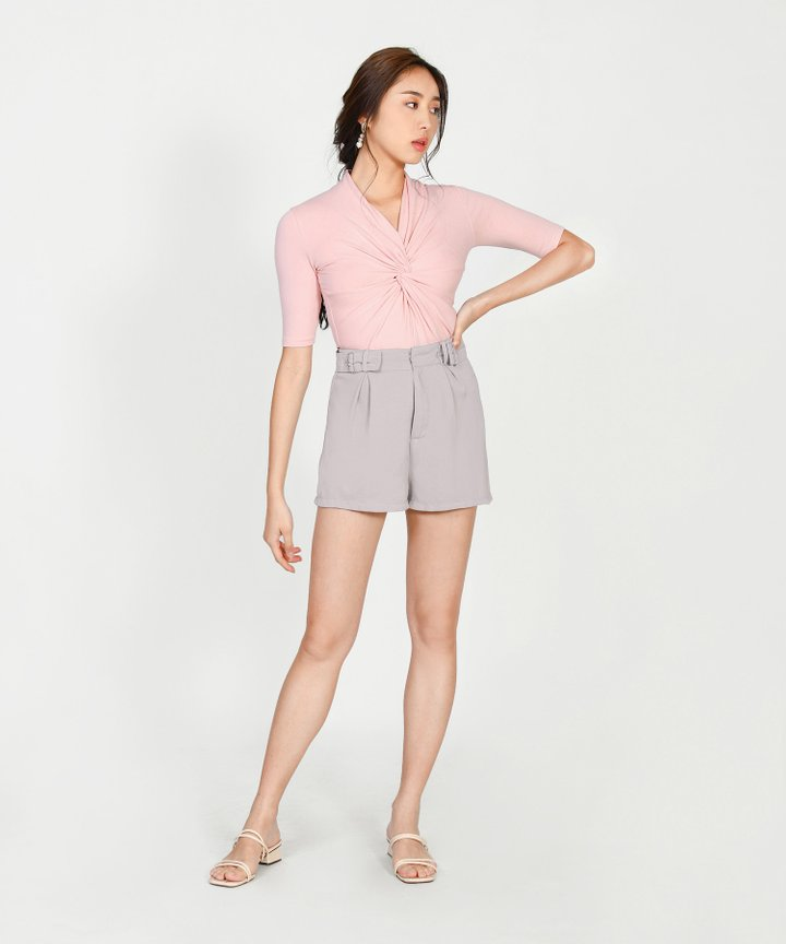 Amadea Knotted Top - Lemonade Pink