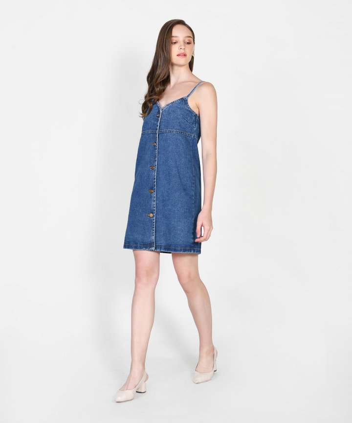 Brooklyn Denim Slip Dress